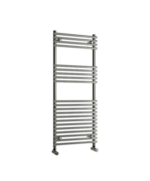 Reina Pavia Chrome 600 x 1200mm Designer Vertical Radiator