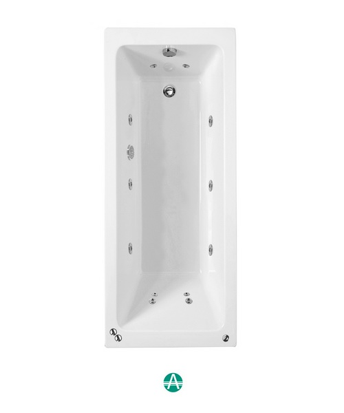 Phoenix Rectangularo 6 Amanzonite SE Whirlpool Bath 1800 x 800mm