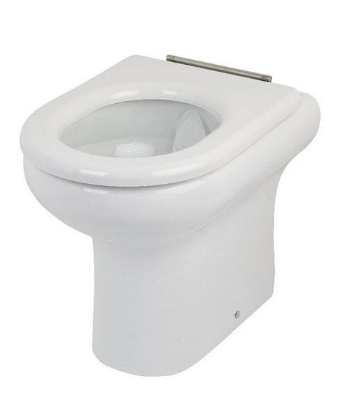 RAK Compact Special Needs Rimless 450mm High Back To Wall WC Pan
