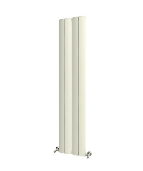 Reina Evago 225 x 1800mm Vertical Aluminium Radiator White