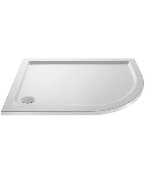 Lauren Pearlstone 900 x 800mm Offset Right Hand Quadrant Shower Tray