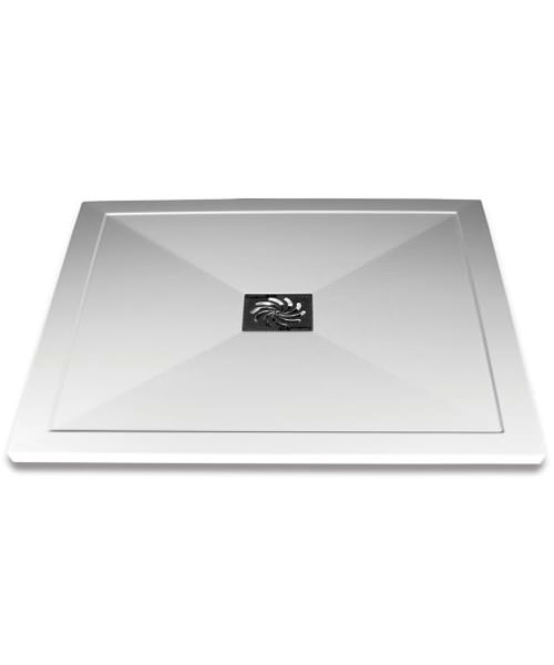 Aqualux Aqua 25 1000 x 800mm Rectangular Shower Tray