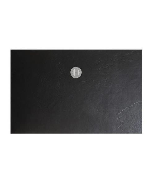 Simpsons 1600 x 800mm Black Textured Slate Effect Shower Tray
