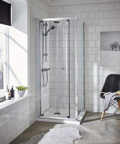 Alternate image of Lauren Ella 900 x 1850mm Bi-Fold Shower Door