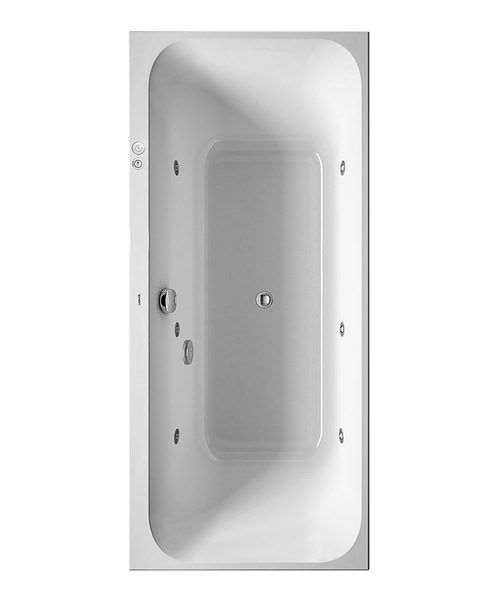 Duravit Happy D2 Built-In Bath With Two Backrest Slopes
