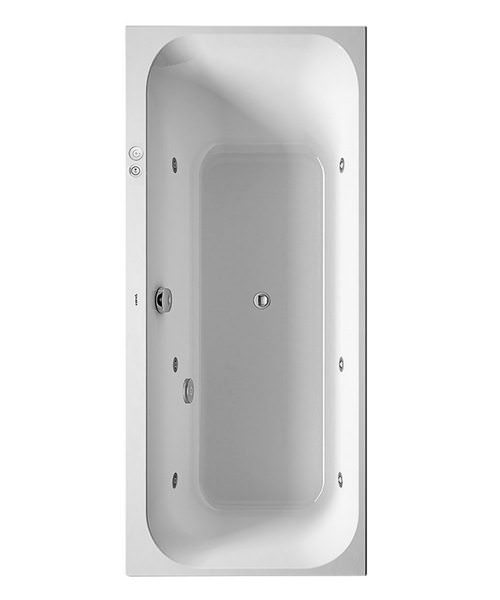 Duravit Happy D2 1700 x 750mm Built-In Bath Left Slope - Jet-System