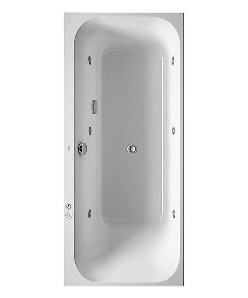 Duravit Happy D2 1700 x 700mm Built-In Bath Right Slope - Jet-System