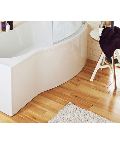 Lauren 1700mm White Acrylic Front Panel For B Bath