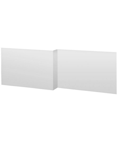 Lauren 1700mm White MDF Shower Bath Front Panel