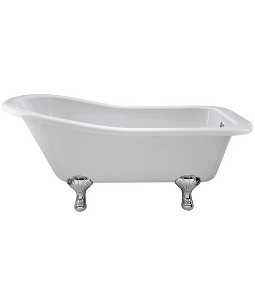 Lauren Kensington 1500 x 730mm Freestanding Acrylic Bath With Corbel Legs
