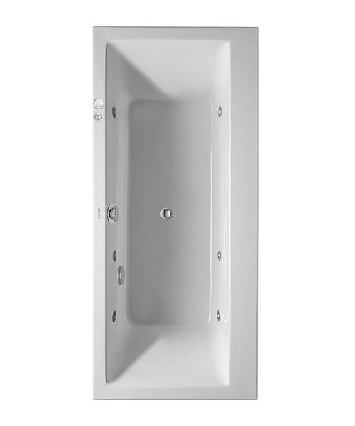 Duravit Vero 1900 x 900mm Bath With Two Backrest Slope And Jet System