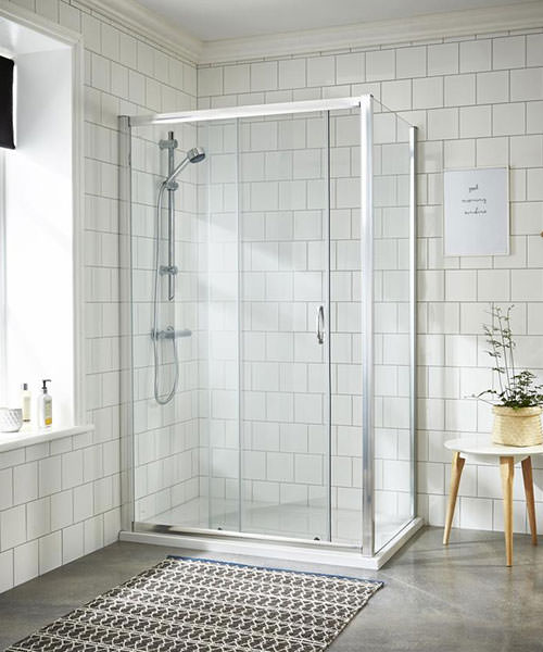 Lauren Ella 1000 x 1850mm Single Sliding Shower Door