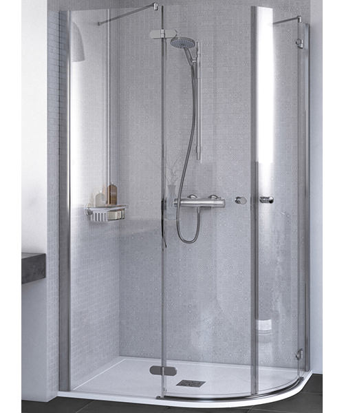 Aqualux ID Match Round Offset Quadrant Shower Enclosure