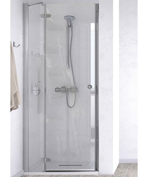 Aqualux id match time 1000mm recess hinge shower door for 1000mm pivot shower door