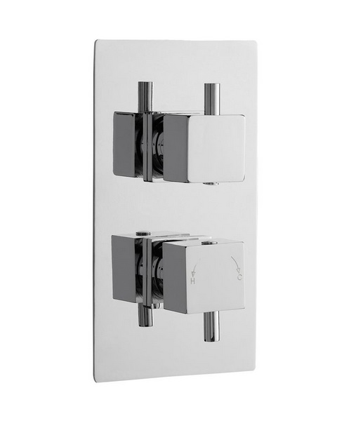 Lauren Volt Square Thermostatic Twin Concealed Shower Valve