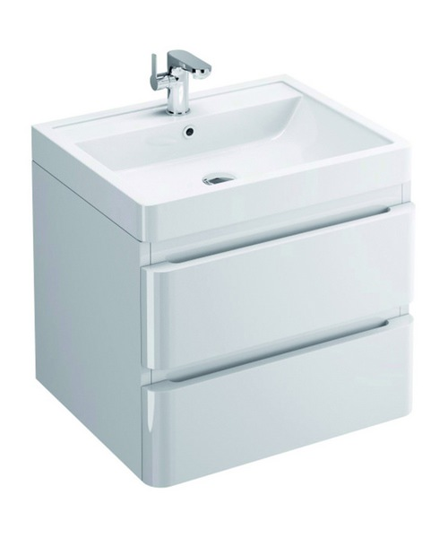 Pura Flite Wall Hung Double Drawer Unit And Basin