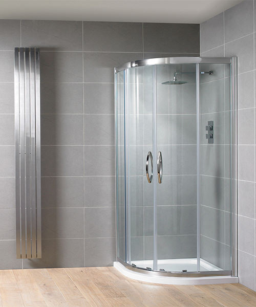 Aquadart Venturi 8 1000 x 1000mm Double Door Shower Quadrant