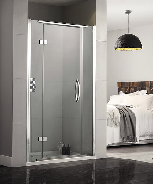 Aquadart Inline 1200mm Recess Hinged Shower Door