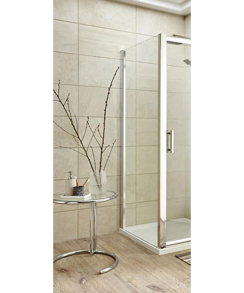 Lauren Pacific 900mm x 1850mm Side Panel For Shower Enclosure