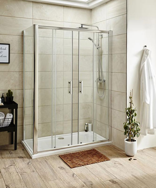 Alternate image of Lauren Pacific 1600 x 1850mm Double Sliding Shower Door