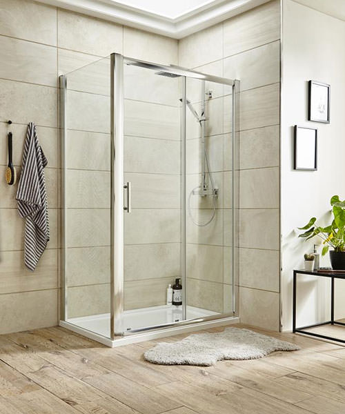 Alternate image of Lauren Pacific 1000 x 1850mm Single Sliding Shower Door