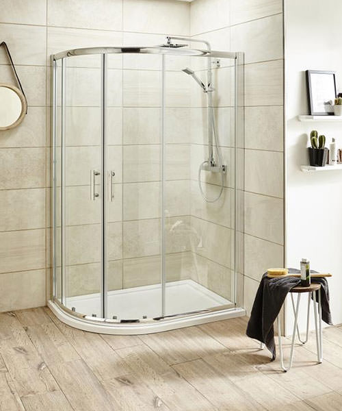 Lauren Pacific 900 x 760mm Offset Quadrant Shower Enclosure