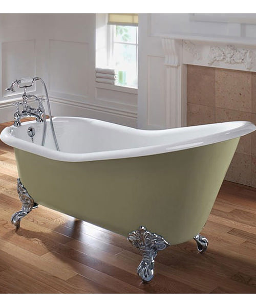 Imperial Cast Iron Slipper Bath With Cast Iron Feet 1700 x 740mm