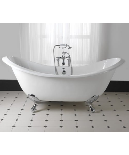 Imperial Sheraton 1800mm Slipper Bath With Ball G And H White Feet