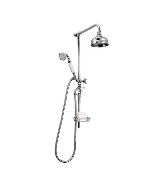 Victorian Rigid Riser With 8 Inches Flowmaster Shower Head And Kit
