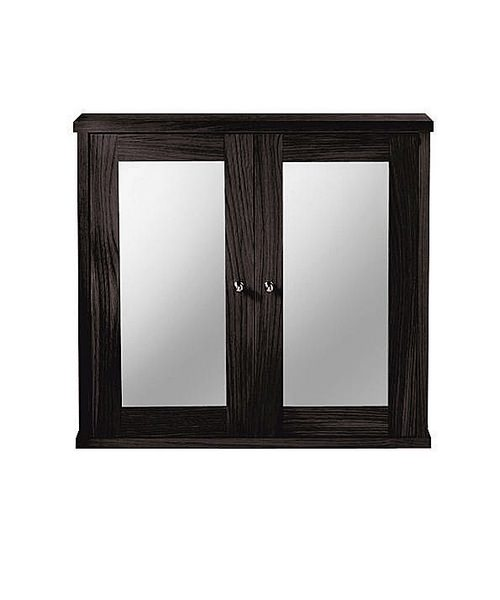 Imperial Linea Mirror Wall Cabinet With 2 Mirror Glass Doors Wenge