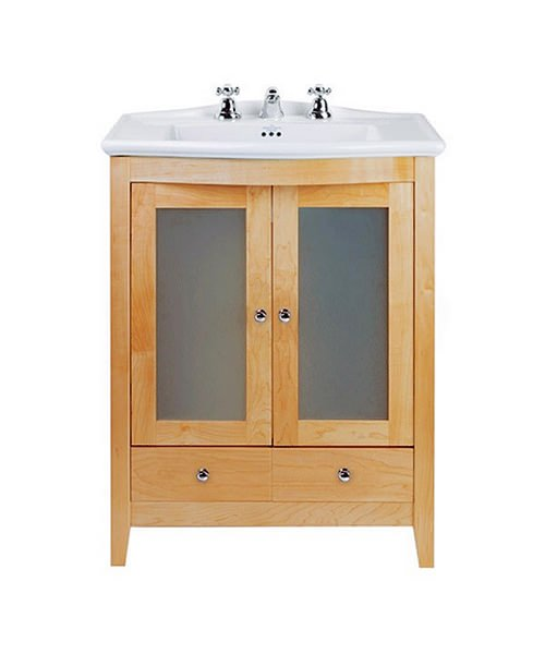 Imperial Westminster Esteem Vanity Unit With 2 Glass Doors Oak