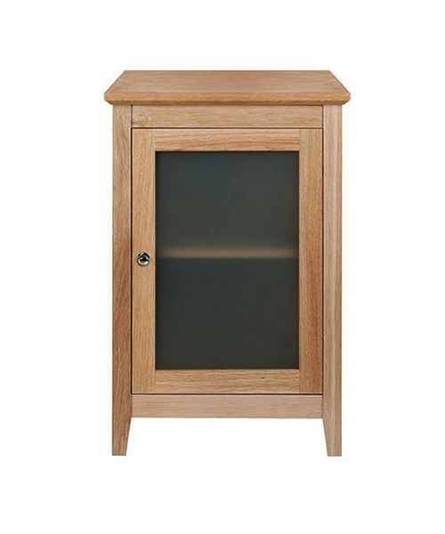 Imperial Esteem Side Unit With 1 Wooden-Frosted Glass Doors Oak