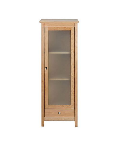 Imperial Esteem Tall Unit With Frosted Glass Door Natural Oak