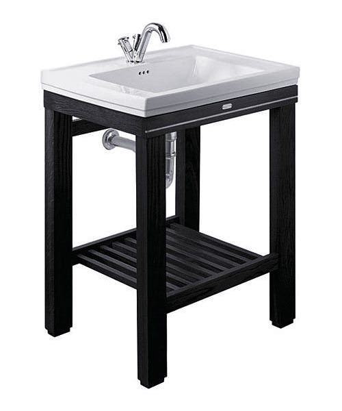 Imperial Cuda Metal Weave Open Wash Station 645mm Wide Wenge