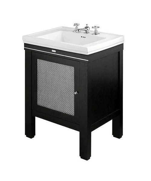 Imperial Cuda Metal Weave Wash Station 645mm Wide Wenge