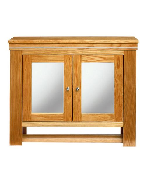 Imperial Cuda Wall Cabinet 700 x 660mm Natural Oak