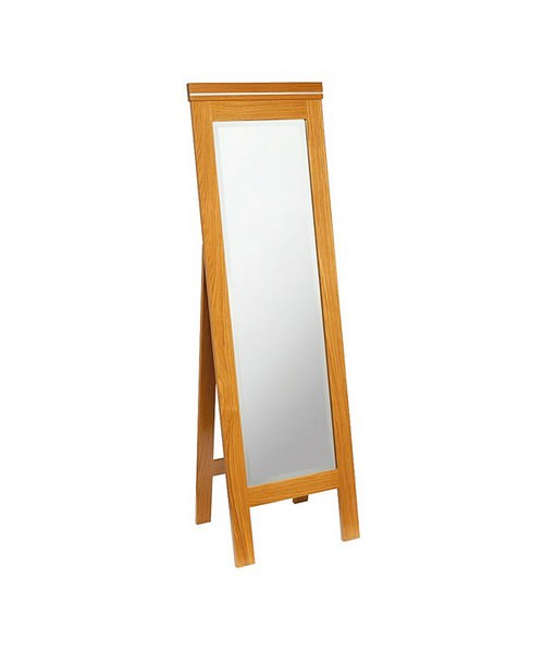 Imperial Cuda Cheval Mirror 500 x 1600mm Natural Oak