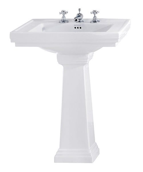 Imperial Astoria Deco 640mm Large Basin With Full Pedestal