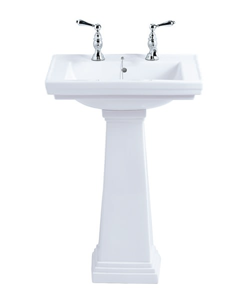 Imperial Astoria Deco Small Basin 520mm With Pedestal