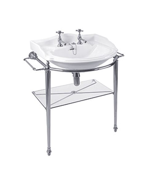 Imperial Oxford Chrome Basin Stand And Oxford 655mm Basin