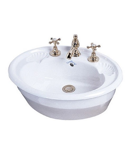 Imperial Oxford Inset Basin 545mm White
