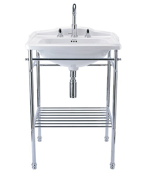 Imperial Delille Chrome Basin Stand And Delille 625mm Large Basin