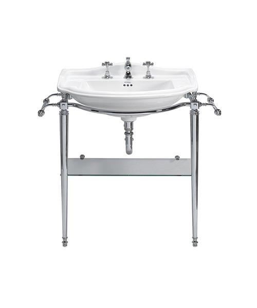 Imperial Drift Large Basin And Heyford Chrome Basin Stand