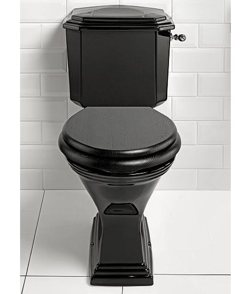 Imperial Astoria Deco Black Close Coupled Toilet