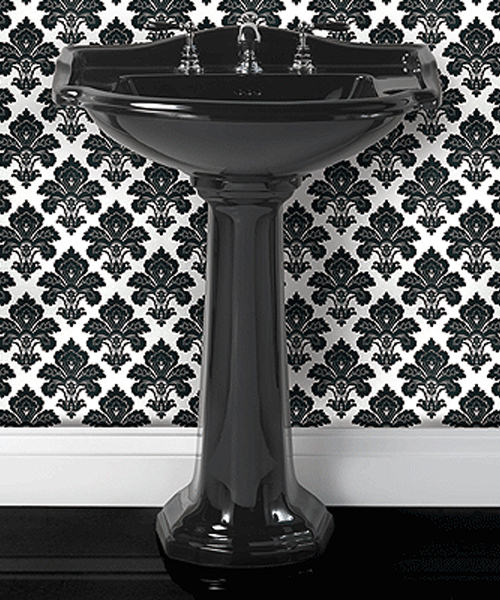 Imperial Drift Black Small Basin 540mm And Pedestal