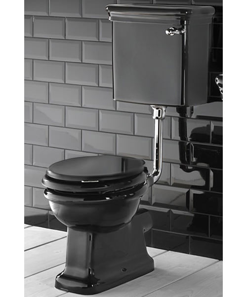 Imperial Etoile Black Toilet Pan And Low level Cistern 650mm