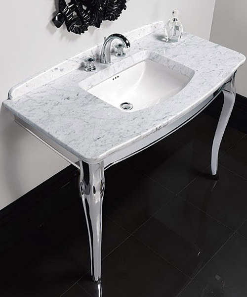 Imperial Oban Marble Console And Westminster Under Counter Basin