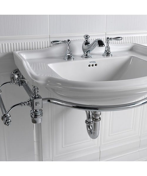 Imperial Hardwick Chrome Basin Stand And Drift Large Basin