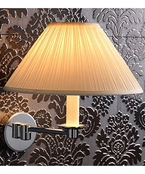 Imperial Brokton Wall Light With White Linen Shade