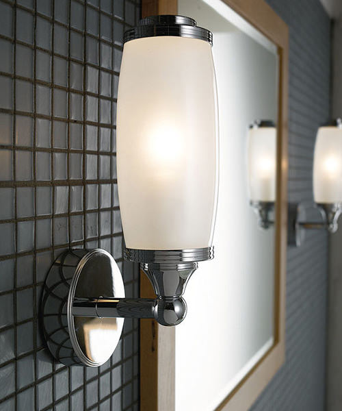 Imperial Toledo Single Wall Light And Glass Shade